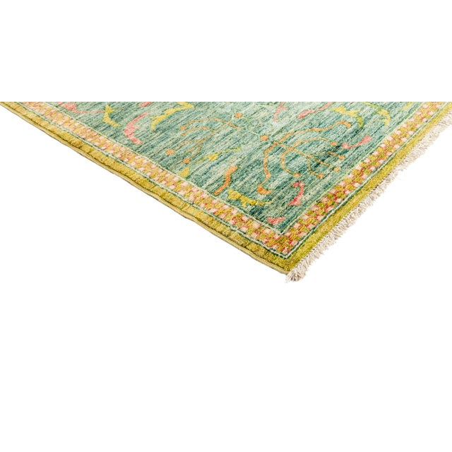 """Image of New Yellow Hand-Knotted Rug 10' 2"""" X 13' 9"""""""