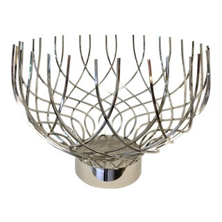 Large Modern Silver Bowl