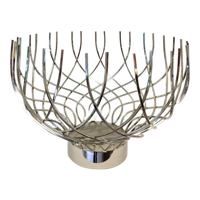 Large Modern Silver Bowl - Image 1 of 5