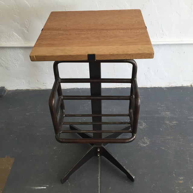 Image of Side Table with Book Rack