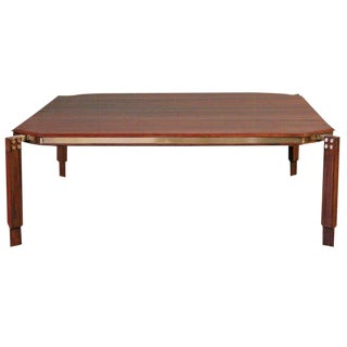 Rosewood and Brass Coffee Table