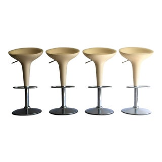 "Magis Chrome Adjustable ""Bombo"" Stools - Set of 4"