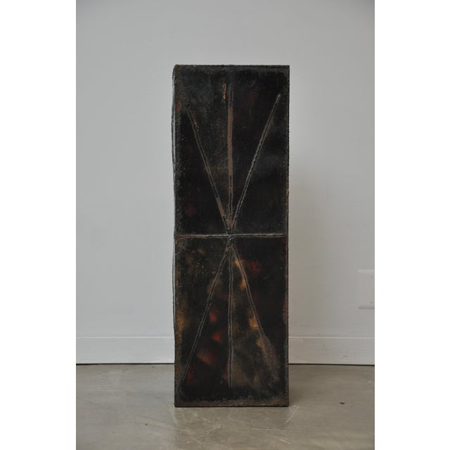 Paul Evans Sculptural Steel Planter Pedestal - Image 5 of 8