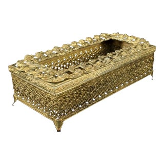 Antique Bronze Tissue Box