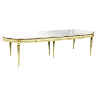 Maisen Jansen Louis XVI Style Distressed Painted Dining Table