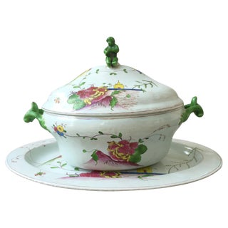 18th C. Continental Tureen & Underplate