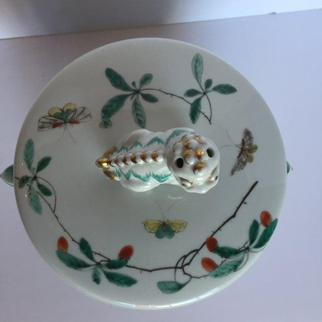 Image of Mottahedeh Famille Verte Lidded Cookie Jar