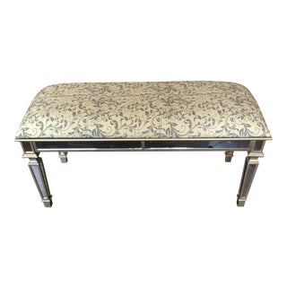 Gold Mirror Upholstered Bench