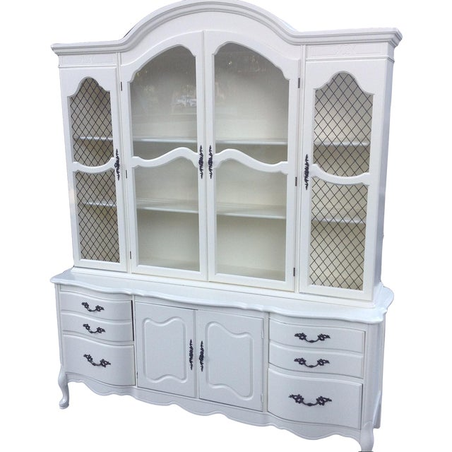 Vintage 1950s French Provincial China Cabinet - Image 1 of 6