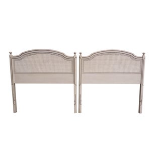 Caned Twin Headboards - Pair
