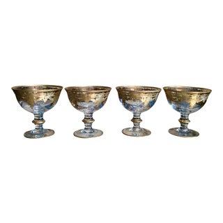 Arte Italica Vetro Gold Dessert Bowls - Set of 4