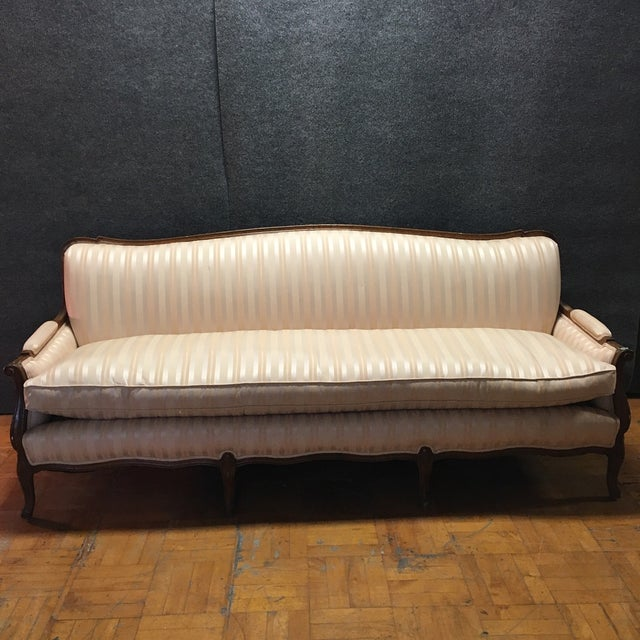 Antique Wooden Sofa ~ Antique carved wood sofa settee chairish