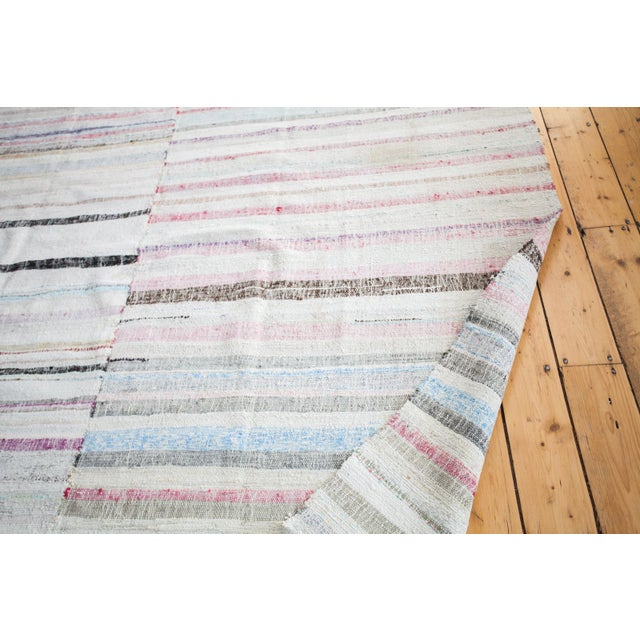 "Vintage Cotton Area Rag Rug - 7'10"" x 8'7"" - Image 7 of 9"