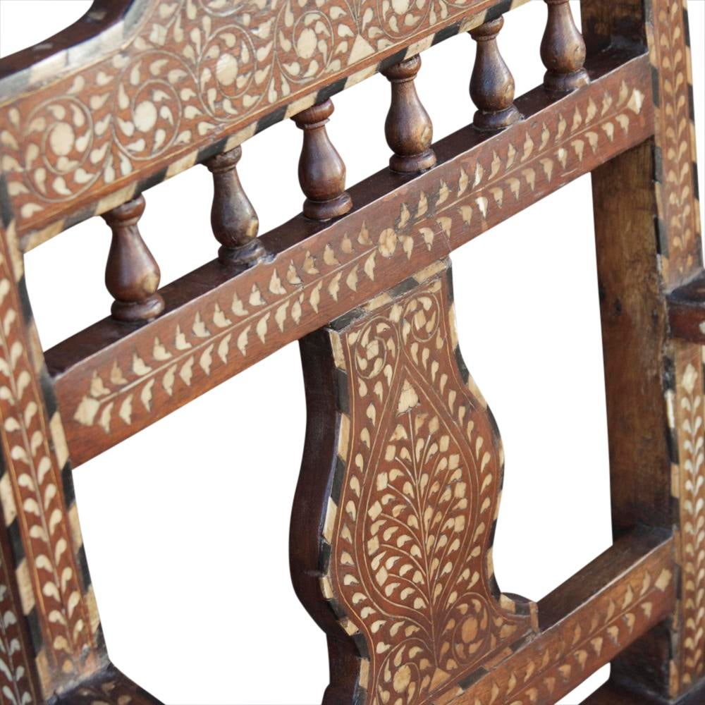 Anglo indian bone inlaid palace chairs a pair chairish