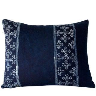 Natural Batik Indigo Accent Pillow