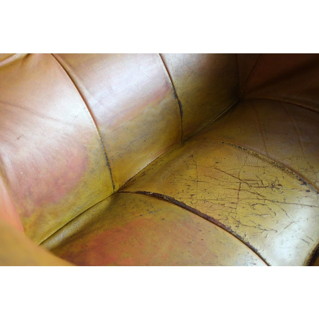 Percival Lafer Rosewood Tan Leather Lounge Chair - Image 9 of 11