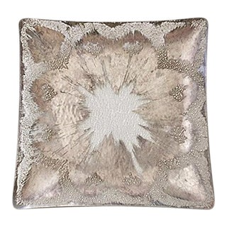 Dorothy Thorpe Silver Splatter Holloware Square Platter