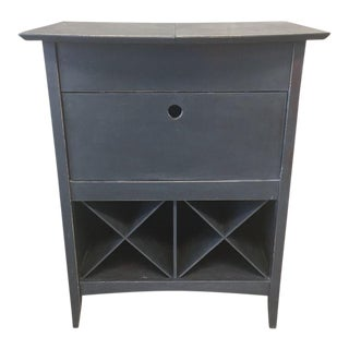 Mid-Century Modern Graphite Grey Bar Upcycled