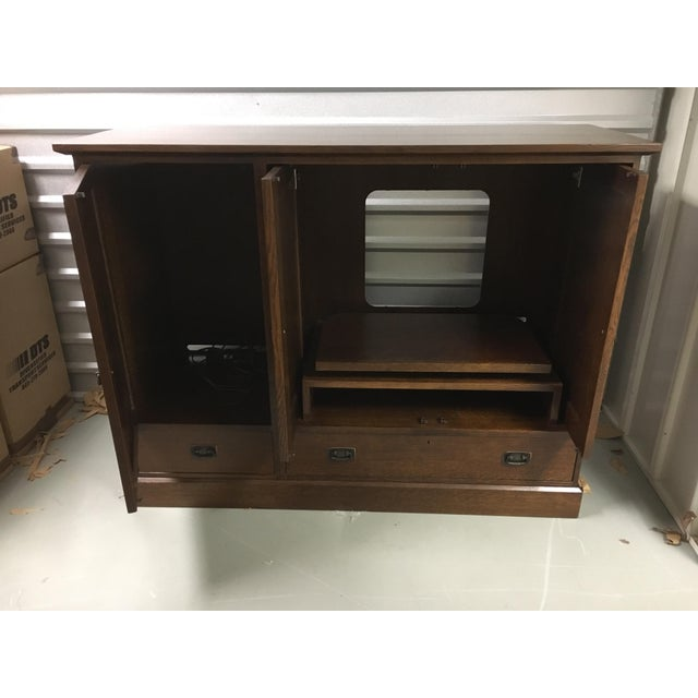 Stickley Oak Entertainment Cabinet - Image 3 of 5