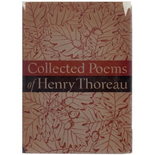"""Collected Poems of Henry Thoreau"" First Trade Edition Hardcover Book by Carl Bode"