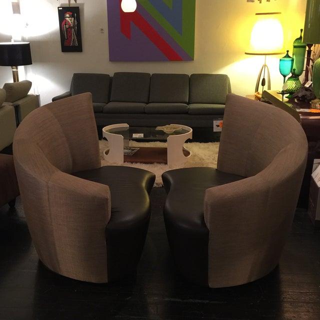 "Vladimir Kagan ""Bilbao"" Swivel Chairs - a Pair - Image 4 of 8"