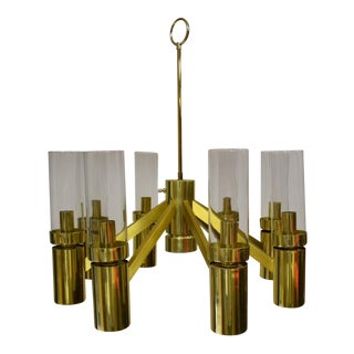 Lightolier Hurricane Brass Chandelier