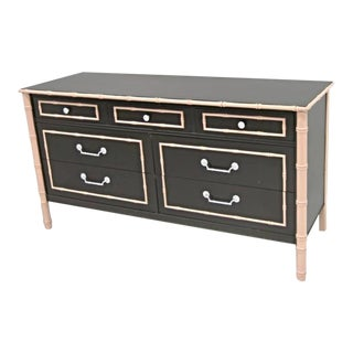 Thomasville Faux Bamboo Lacquered Mid-Century Dresser