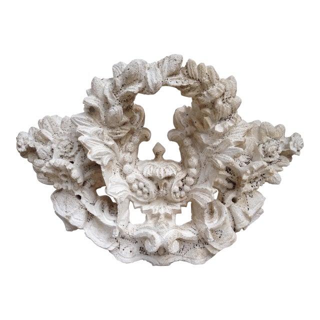 Vintage Carved Tufa Stone Floral Architectural Sculpture - Image 1 of 4