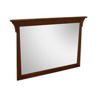 Quality Mission Oak Style Large Wall Mirror