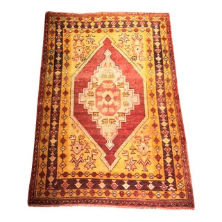 "Bellwether Rugs Vintage Turkish Oushak Area Rug - 3'8"" X 5'4"""