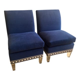 CR Laine Marguerite Slipper Chairs - A Pair