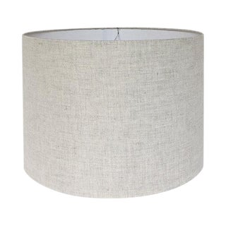 Large Natural Linen Drum Custom Lamp Shade