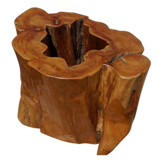 Ancient Teak Tree Trunk Table