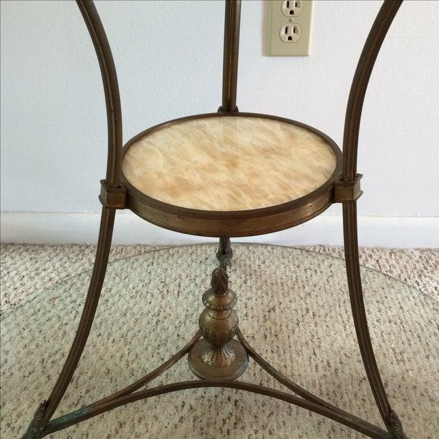 Gueridon Vintage Neoclassical Bronze & Onyx Table - Image 5 of 10