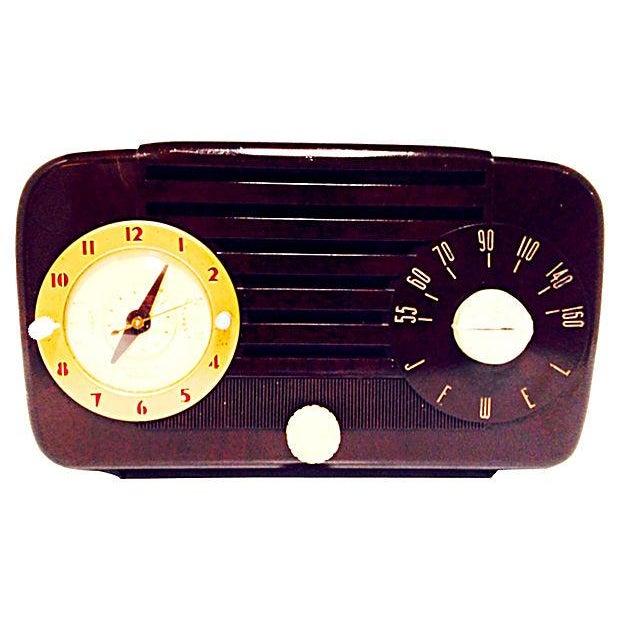 Jewel Telechron Clock Radio C. 1950 - Image 1 of 6