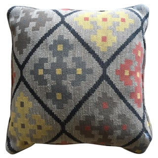 Tribal Motif Accent Pillow