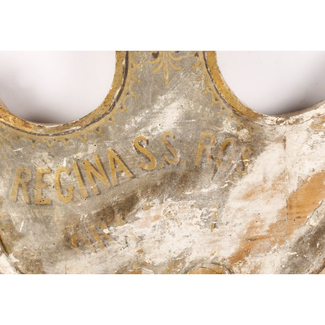 Image of 19th Century Gilt & Paint Decorated Wood Sign