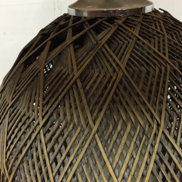 Optic Woven Cane Table Lamp - Image 11 of 11