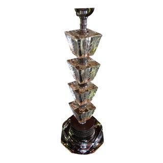 Vintage 1930s Art Deco Glass Table Lamp