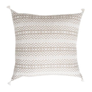 Tan Handwoven Mexican Pillow