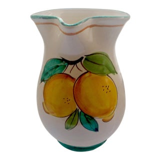 Giuseppe Cassetta for Vietri Hand-Painted Lemon Pitcher