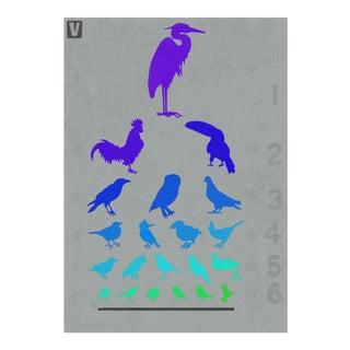 Premium Giclee Print Of Birdseye Chart.