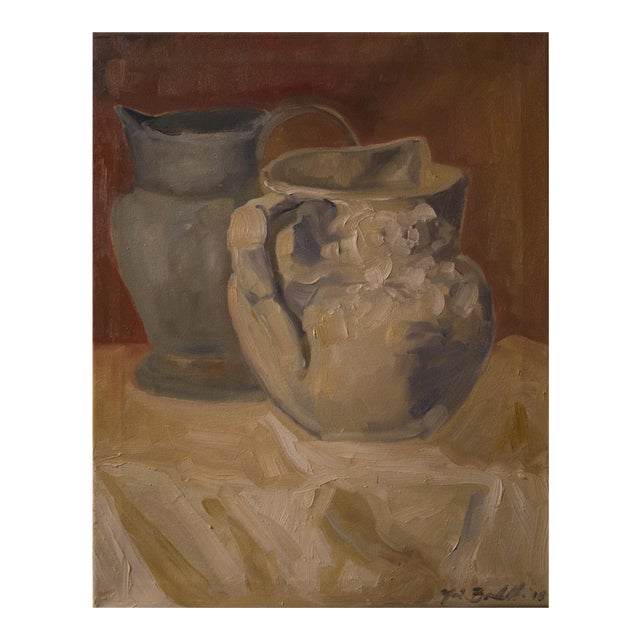 """""""Two Water Vessels"""" Oil Painting - Image 1 of 3"""