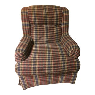 Sherill Plaid Accent Chair