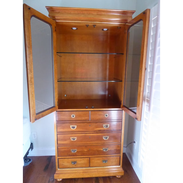 Mt. Airy Entertainment Display Armoire Cabinet - Image 5 of 11