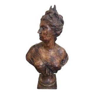 Harold Studios Plaster Bust of the Goddess Diana.