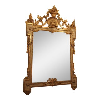 PERIOD LOUIS XVI MIRROR WITH A SHELL CARTOUCHE