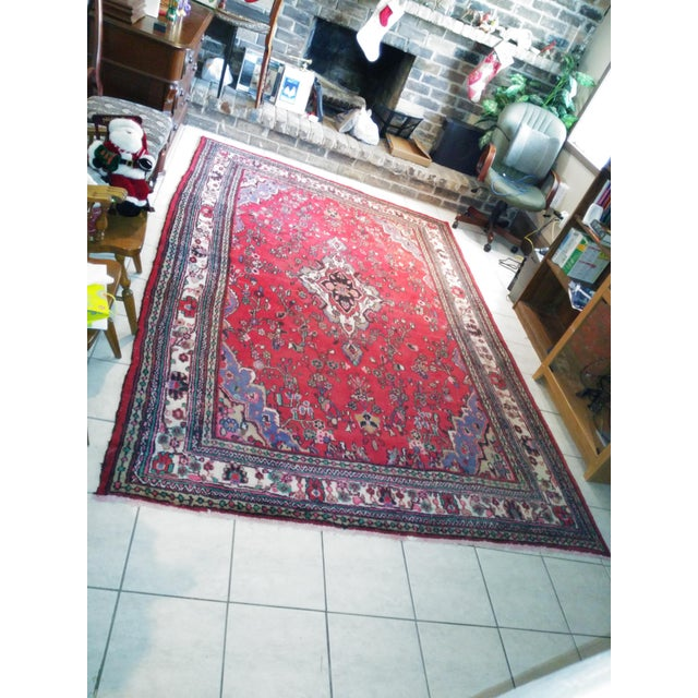 Hand Knotted Persian Area Rug - 5'11 x 10'3 - Image 3 of 11