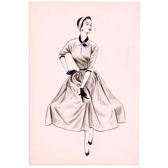 Mid-Century Fashion Print - Image 1 of 2