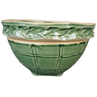 "8"" Green Bamboo & Windowpane Mixing Bowl"
